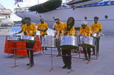 ANTIGUA, St John's, Steel Band playing at docks, ANT842JPL