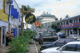 ANTIGUA, St John's, cruise ship at port and Redcliffe Street shops, ANT782JPL
