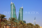 BAHRAIN, Manama, Bahrain Financial Harbour towers, World Trade Centre (right), BHR205JPL