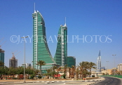 BAHRAIN, Manama, Bahrain Financial Harbour towers, World Trade Centre (right), BHR350JPL