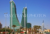 BAHRAIN, Manama, Bahrain Financial Harbour towers, World Trade Centre (right), BHR351JPL