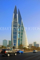 BAHRAIN, Manama, World Trade Centre towers, and Kind Faisal Highway, BHR273JPL