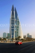 BAHRAIN, Manama, World Trade Centre towers, and Kind Faisal Highway, BHR275JPL