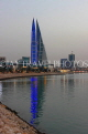 BAHRAIN, Manama, World Trade Centre towers, dusk view, BHR1916JPL