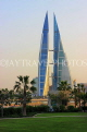 BAHRAIN, Manama, World Trade Centre towers, view from Bahrain Bay, BHR1908JPL