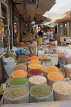 BAHRAIN, Manama, traditional souk, pulses and spice stalls, BHR289JPL