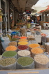 BAHRAIN, Manama, traditional souk, pulses and spice stalls, BHR290JPL