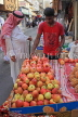 BAHRAIN, Manama Souk (Souq), fruit seller, apples and pomegranates, BHR707JPL