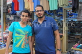 BAHRAIN, Manama Souk (Souq), two Bahraini men posing for photo, BHR691JPL