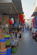 BAHRAIN, Muharraq, Souk (souq), narrow street with shops and stalls, BHR849JPL