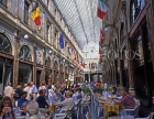 Belgium, BRUSSELS, St Hubert Shopping Arcade and cafes, BEL63JPL