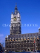 Belgium, GHENT, The Belfry (Belfort) and cafe scene at St Baafsplein, GH14JPL