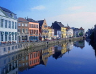 Belgium, GHENT, old houses of Graslei and Leie Canal, GH9JPL