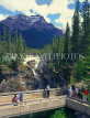CANADA, Alberta, Jasper National Park, Sunwapta Falls and lookout point, CAN210JPL
