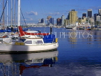 CANADA, British Columbia, VANCOUVER, Downtown skyline, view from Yacht Club, CAN485JPL