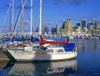 CANADA, British Columbia, VANCOUVER, Downtown skyline, view from Yacht Club, CAN586JPL
