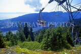 CANADA, British Columbia, VANCOUVER, Grouse Mountain scenery and cable car, CAN918JPL