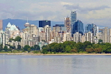 CANADA, British Columbia, VANCOUVER, Kitsilano beach and Downtown Vancouver, CAN884JPL