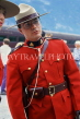 CANADA, British Columbia, VANCOUVER, Royal Canadian Mountain Policeman, CAN931JPL