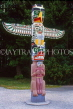 CANADA, British Columbia, VANCOUVER, Stanley Park, Totem Pole, CAN929JPL
