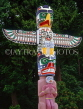 CANADA, British Columbia, VANCOUVER, Stanley Park, Totem Pole, CAN942JPL