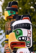 CANADA, British Columbia, VANCOUVER, Stanley Park, close up of totem poles, CAN878JPL