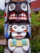 CANADA, British Columbia, VANCOUVER, Totem Pole detail, CAN125JPL