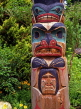 CANADA, British Columbia, VANCOUVER, Totem Pole detail, CAN560JPL