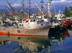 CANADA, British Columbia, VANCOUVER, Vancouver harbour, fishing trawlers, CAN626JPL
