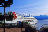 CANADA, British Columbia, VANCOUVER, cruise ship at Canada Place, CAN933JPL