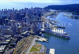 CANADA, British Columbia, VANCOUVER, downtown aerial view and Canada Place, CAN650JPL