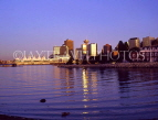 CANADA, British Columbia, VANCOUVER, evening skyline and Canada Place, CAN619JPL
