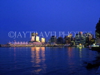 CANADA, British Columbia, VANCOUVER, night skyline and Canada Place (left), CAN563JPL