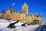 CANADA, Quebec, QUEBEC CITY, Frontenac Chateau, in winter, CAN2793JPL