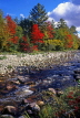 CANADA, Quebec, St Marguerite du Lac, stream and Autumn foliage, CAN492JPL