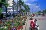 CYPRUS, Larnaca, promenade lined with flower beds, CYP261JPL