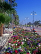 CYPRUS, Larnaca, promenade lined with flower beds and palm trees, CYP142JPL