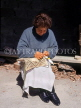 CYPRUS, Lefkara village, traditional Lace making, woman at work, CYP34JPL