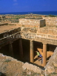 CYPRUS, Paphos, Kato Paphos, Tombs Of The Kings, tomb with Doric pillars, CYP260JPL