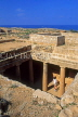 CYPRUS, Paphos, Kato Paphos, Tombs Of The Kings, tomb with Doric pillars, CYP424JPL