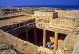 CYPRUS, Paphos, Kato Paphos, Tombs Of The Kings, tomb with Doric pillars, CYP425JPL