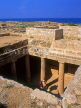 CYPRUS, Paphos, Kato Paphos, Tombs Of The Kings, tomb with Doric pillars, CYP509JPL