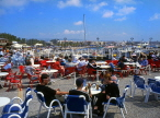 CYPRUS, Paphos, Kato Paphos, harbourfront and cafes, CYP219JPL