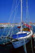 CYPRUS, Paphos, Kato Paphos, harbourfront and yacht, CYP515JPL