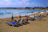 CYPRUS, Paphos area, CORAL BAY beach and sunbathers, CYP494JPL
