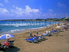CYPRUS, Paphos area, CORAL BAY beach and sunbeds, CYP174JPL