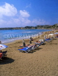 CYPRUS, Paphos area, CORAL BAY beach and sunbeds, CYP176JPL