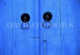 CYPRUS, Paphos area villages, KATHIKAS, blue door with knockers, CYP439JPL