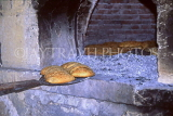 CYPRUS, Paphos area villages, KRITOU, Sesame bread in traditional oven, CYP443JPL