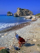 CYPRUS, Petra Tou Romiou (Aphrodite's birthplace), artist painting scene, CYP275JPL